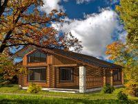 Дом из бревна-177