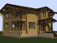 Дом из бревна-188