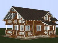 Дом из бревна-150