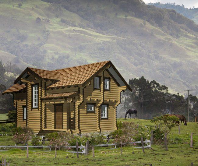 Дом из бревна-125