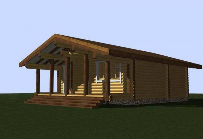 Дом из бревна-88