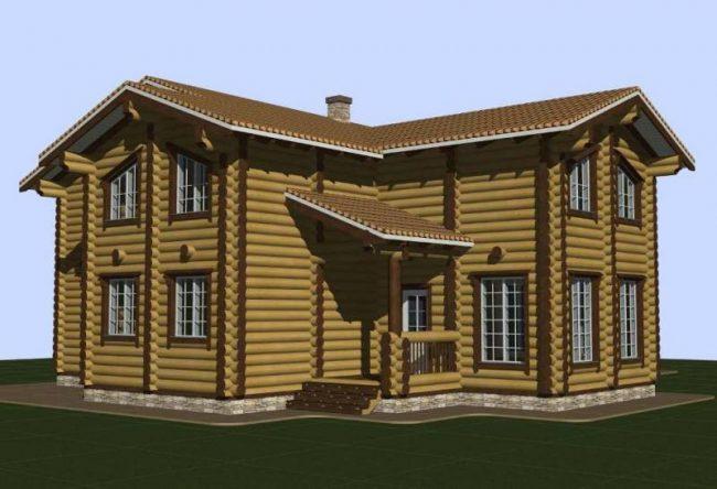 Дом из бревна-195