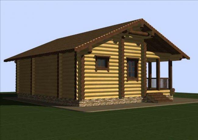 Дом из бревна-105