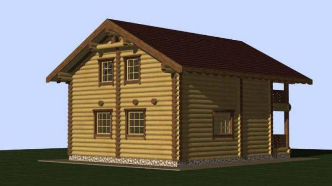 Дом из бревна-116