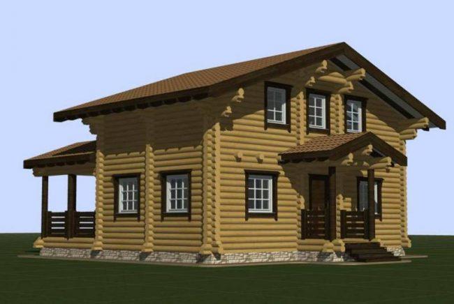 Дом из бревна-134