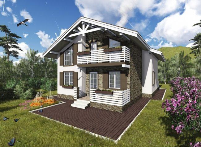 Дом из бруса-238