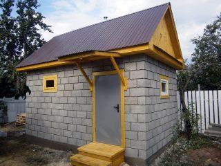Строительство бани из пеноблоков в Москве под ключ